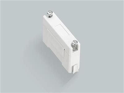 BUSBAR SUPPORT 1-pole, attachable to 01603 or individual mounting, with integrated end cover