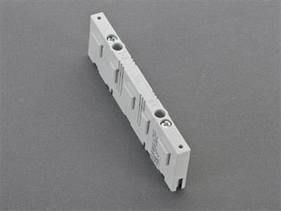 BUSBAR SUPPORT 3 PHASES + N + E, WITH END COVER for busbar 3-pole 12 x 5 and 12 x 10